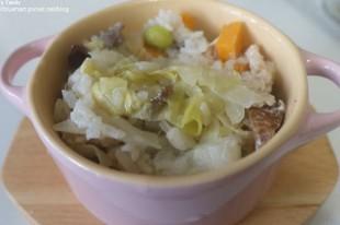 簡易電鍋料理:地瓜蔬菜炊飯