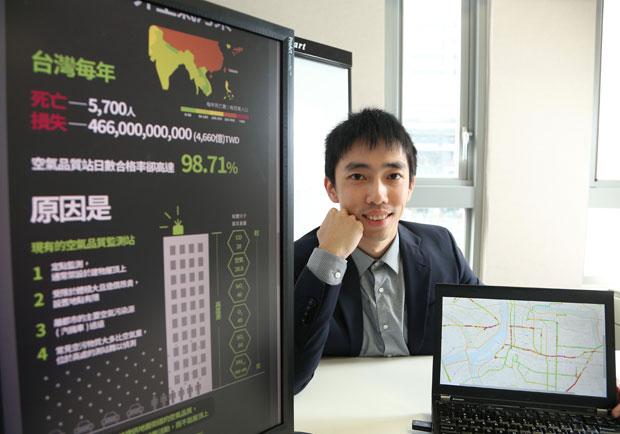紫爆熱區即時報!青年創業家發表即時空汙地圖