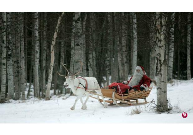 全球暖化  馴鹿變瘦   拉不動聖誕老人