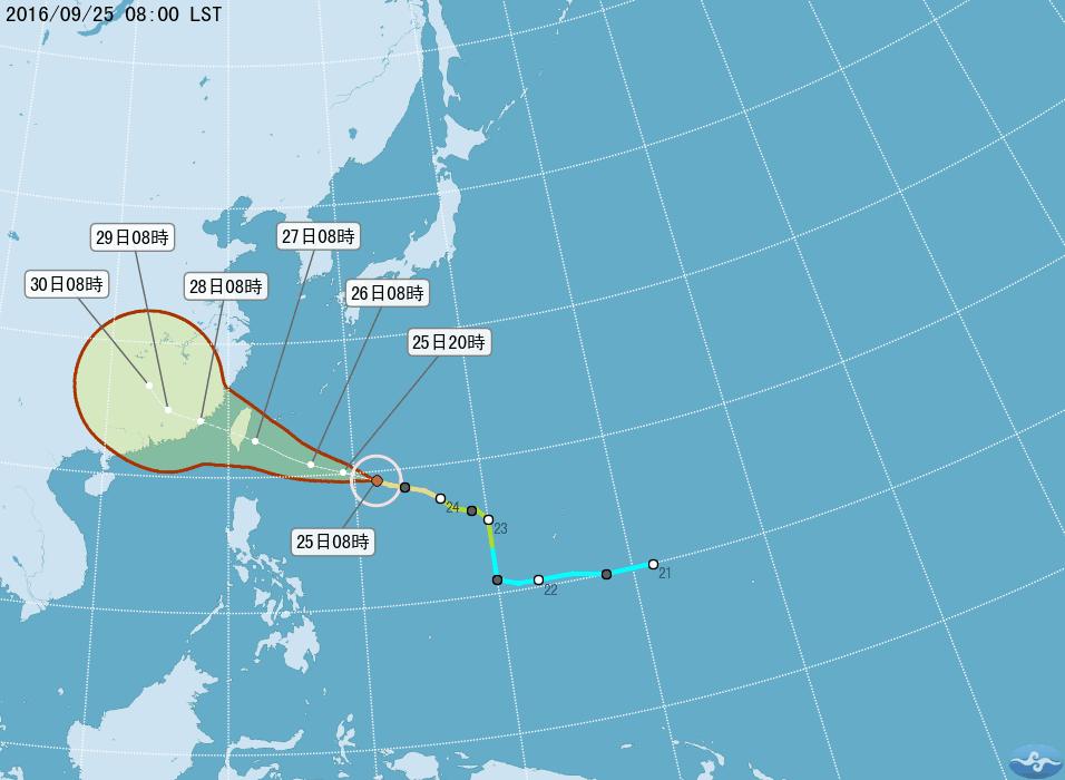 中颱梅姬威脅大  氣象局今天深夜發海上警報