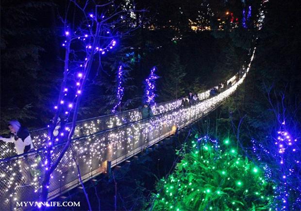聖誕燈飾再進化!打造如幻境般的卡佩蘭諾吊橋公園