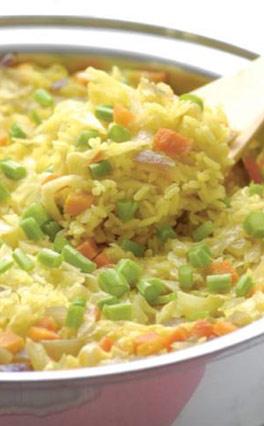 養生食譜:鬱金蔬菜燉飯
