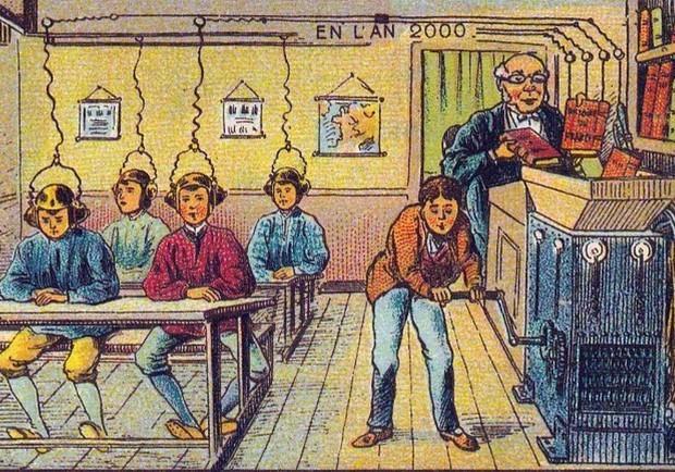 西元1900年畫家設想的未來!有哪些實現了呢?