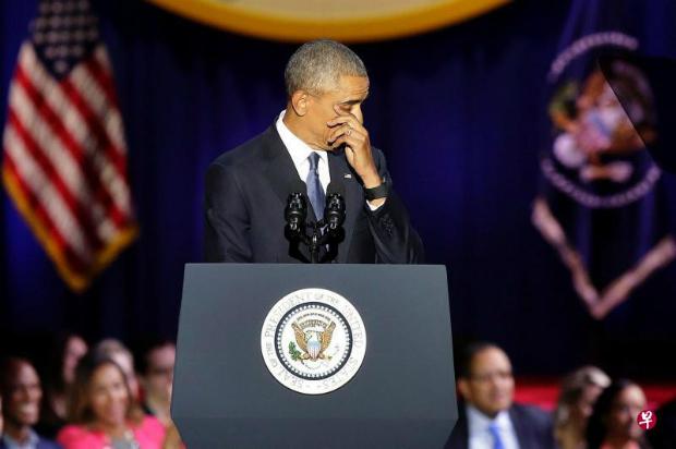 歐巴馬告別演講 呼籲美國人拒絕歧視