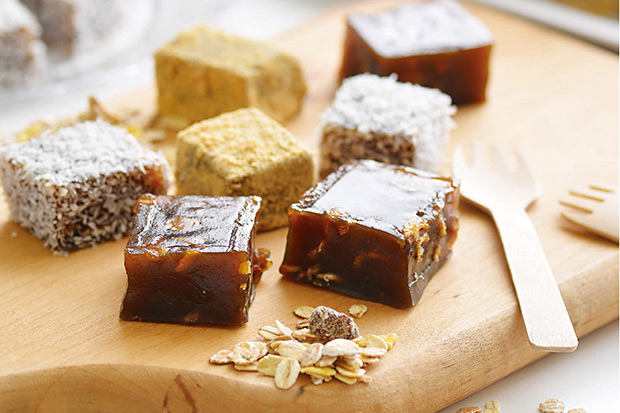 甜點也能簡單又健康:黑糖燕麥涼糕