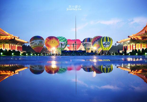 歷史性的一刻!台東熱氣球首度進駐台北中正紀念堂