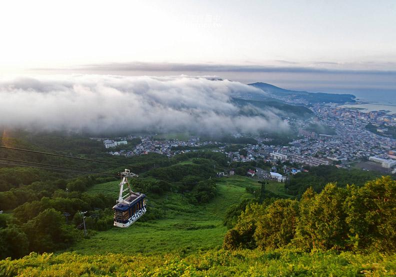 北海道三大夜景:搭天狗山纜車遇見夕陽下雲海夜景