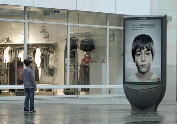 只有兒童才看得到!西班牙廣告創意拯救受暴兒!