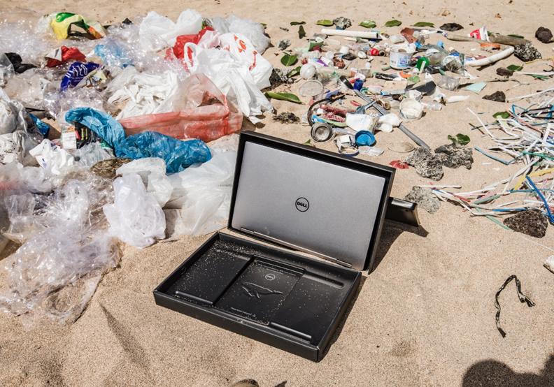 救救海洋!戴爾撿沙灘垃圾做包裝材