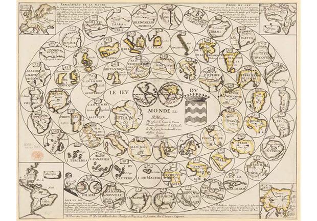 桌遊世界地圖,一六四五年