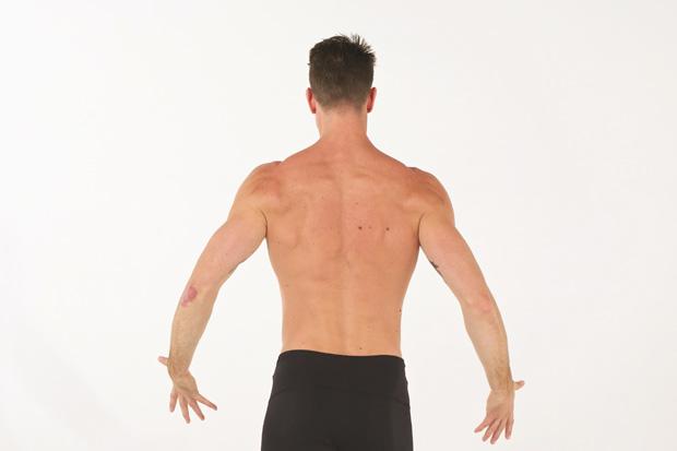 紓壓運動:弓箭步紓壓式──緊實腹部