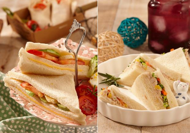 美味野餐點心:簡單吃三明治類
