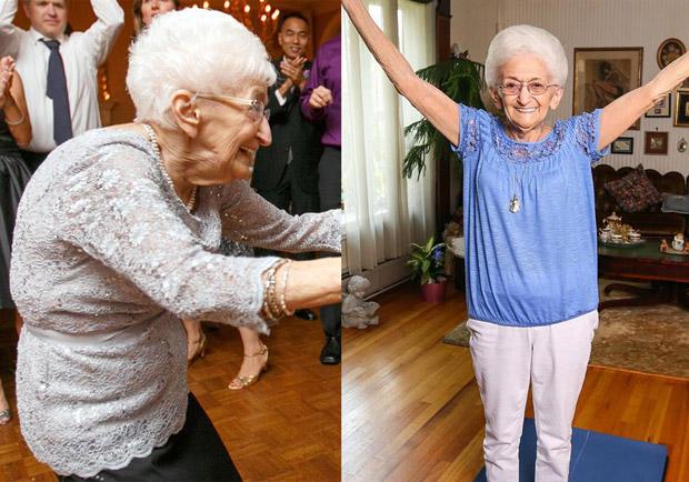 美國 86 歲奶奶患有脊椎側彎,透過瑜伽將身體矯正完好