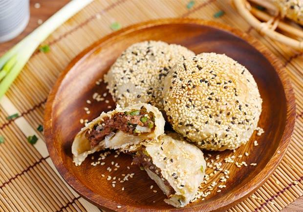 蔥油餅變身神級夜市小吃:快速版胡椒餅