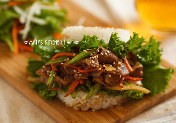 速食店熱門餐點在家簡單做:和風米漢堡