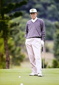 李登輝喜歡打小白球,經常可見揮桿英姿。